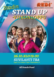 Stadin Stand up – All Female Panel – la 26.10. klo 19.00