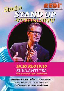 Stadin Stand up – André Wickström & ystävät- pe 25.10. klo 19:30