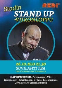 Stadin Stand up – Matti Patronen & ystävät – la 26.10. klo 21.30
