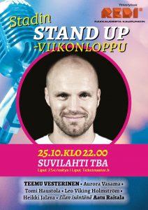 Stadin Stand up – Teemu Vesterinen & ystävät – pe 25.10. klo 22.00