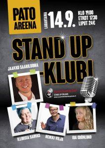 Pato Areena Stand up-klubi – la 14.09. klo 19:00