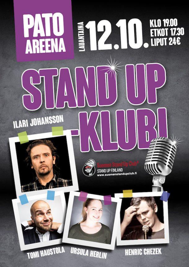 Pato Areena Stand up-klubi – la 12.10. klo 19:00