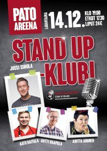 Pato Areena Stand up-klubi – la 14.12. klo 19:00
