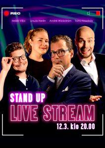 Live Stream Stand Up – pe 12.03. klo 20:00