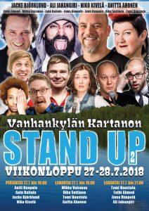Vanhankylän Kartanon Stand up – viikonloppu pe 27.7. klo 19:00