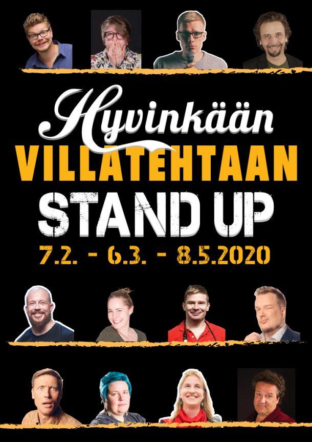 Hyvinkään Villatehtaan Stand up – pe 8.5. klo 20:00