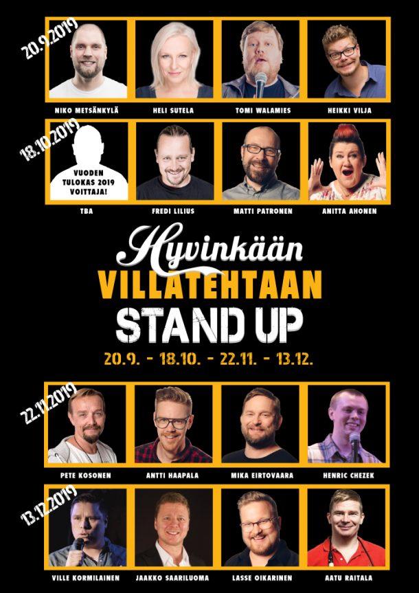 Hyvinkään Villatehtaan Stand up – pe 13.12. klo 20:00